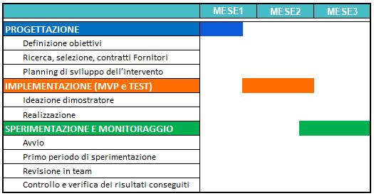 Schema di programmazione progetti Fit4The future